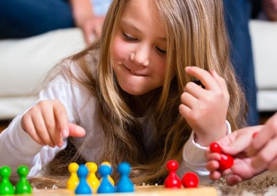 Child playing a game